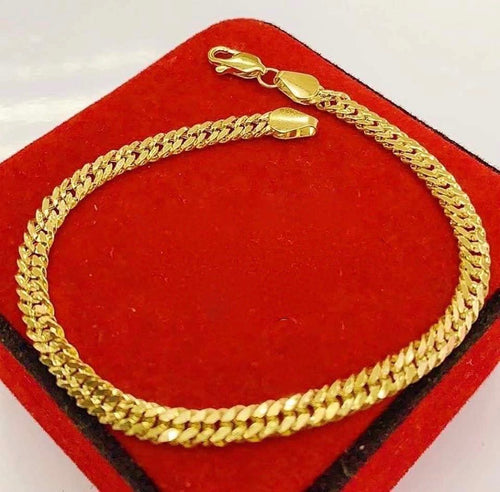 Men's Gold Bracelet 18K Gold mtt47 - ZNZ Jewelry Philippines