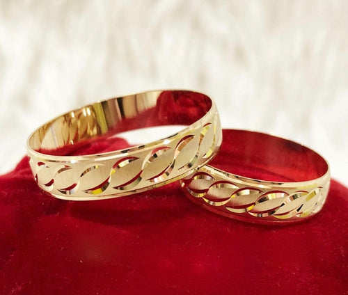 ALELI 18K Gold Wedding Bands, Couple Rings - ZNZ Jewelry Philippines