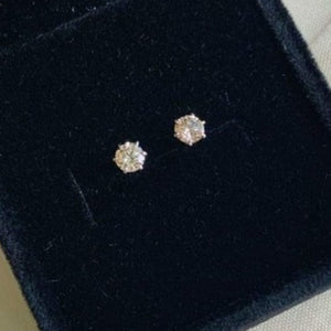 .50ctw Diamond Stud Earrings 18K White Gold