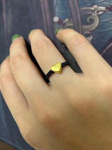 IVY Heart Couple Ring/Wedding Ring in 24K Gold - ZNZ Jewelry Philippines
