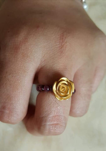 QUINN Flower Ring in 24K Gold for Women -SOLD OUT- - ZNZ Jewelry Philippines