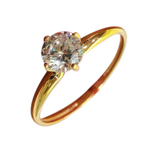 BREA 18K Gold Engagement Ring - ZNZ Jewelry Philippines