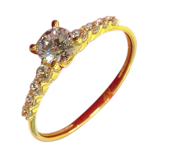 LYLA Engagement Ring 18K Gold with Side Stones - ZNZ Jewelry Philippines