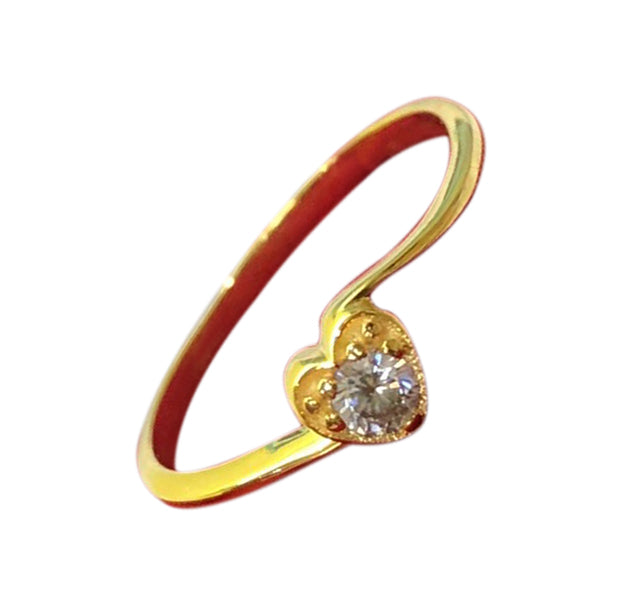 IRIS Solitaire Engagement Ring 18K Gold Twist Band - ZNZ Jewelry Philippines