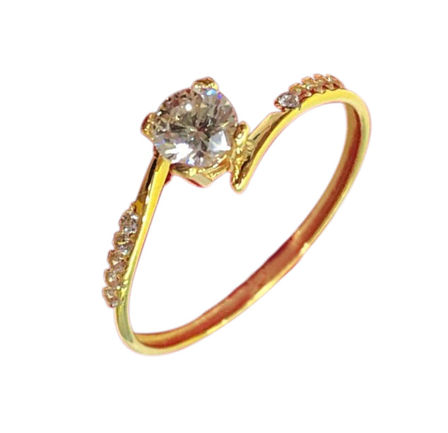 NICOLE Engagement Ring 18K Gold with Twist Band - ZNZ Jewelry Philippines