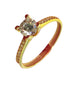 KRISTA Engagement Ring 18K Gold with Paved Band - ZNZ Jewelry Philippines