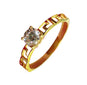 KIM Engagement Ring 18K Gold Solitaire - ZNZ Jewelry Philippines