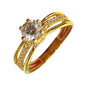 LIZZIE Engagement Ring 18K Gold Triple Style Band - ZNZ Jewelry Philippines