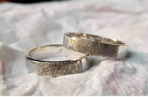 LULU Handprint Wedding Rings in 925 Sterling Silver - ZNZ Jewelry Philippines