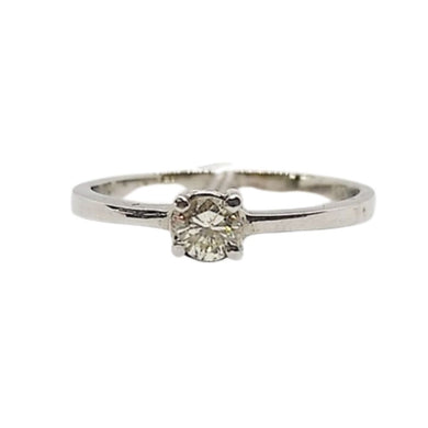 .20ctw Diamond Engagement Ring 4-Prong, 14K White Gold, Ladies' Ring, Anniversary or Birthday Gift