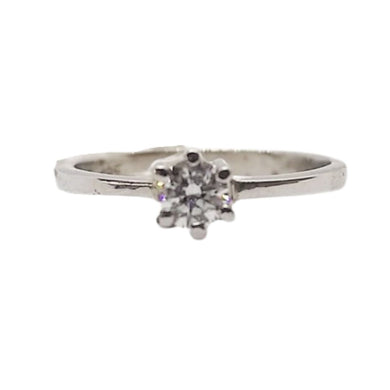 .25ctw Diamond Engagement Ring 6-Prong, 14K White Gold, Ladies' Ring, Anniversary or Birthday Gift
