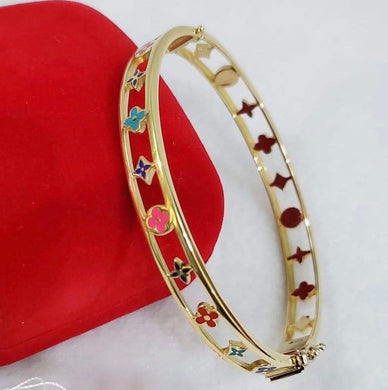 18K Gold Colored Bangle JTT42 - ZNZ Jewelry Philippines