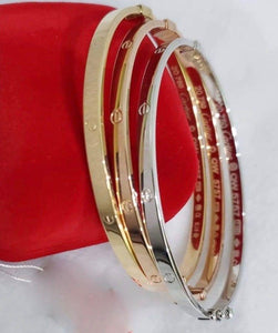 3-Piece Tricolor 18K Gold Bangle, Xtra Small Size JTT46 - ZNZ Jewelry Philippines