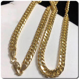 18K Gold Cuban Link Chain Necklace ftt1 - ZNZ Jewelry Philippines