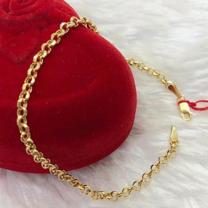 Women's Tauco Chain Bracelet 18K Gold ftt34 - ZNZ Jewelry Philippines