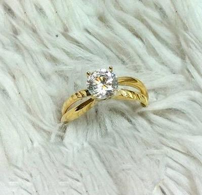18K Gold Engagement Ring 82861 - ZNZ Jewelry Philippines