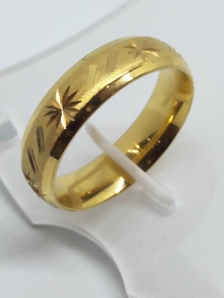 8K Italy Gold Wedding Rings 43829 - ZNZ Jewelry Philippines