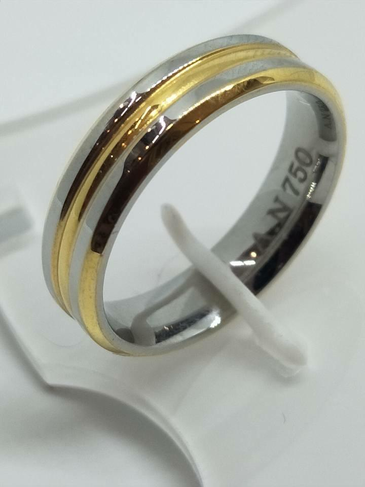 8K Italy Gold Wedding Rings 43838 - ZNZ Jewelry Philippines