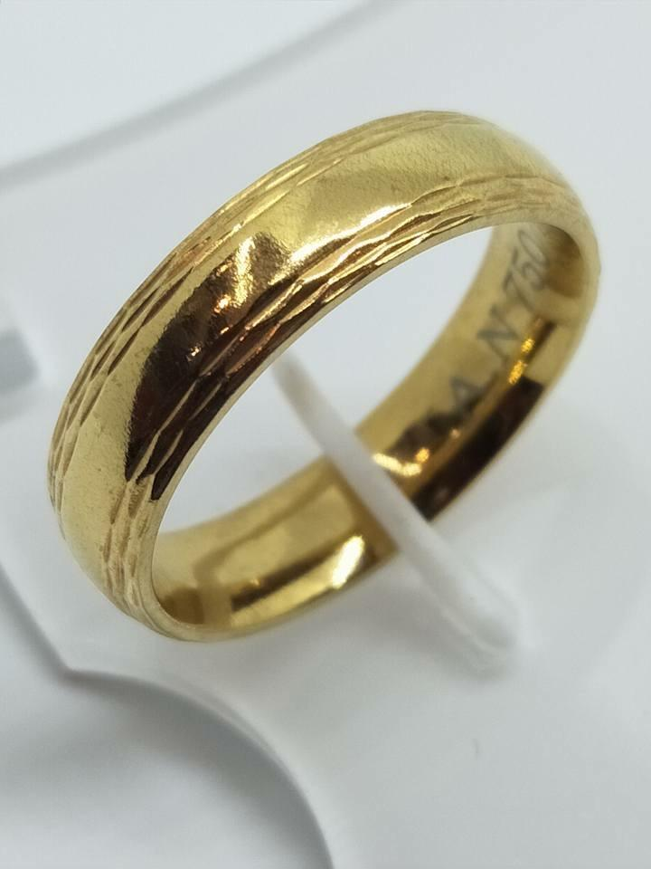 8K Italy Gold Wedding Rings 43840 - ZNZ Jewelry Philippines