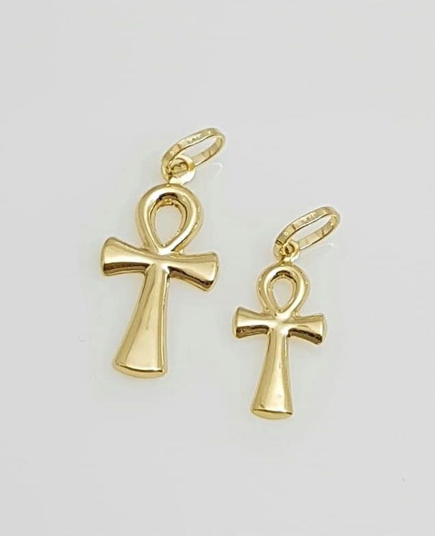 GENESIS Cross Pendant in 18K Gold, Small or Medium, 1 pc only - ZNZ Jewelry Philippines