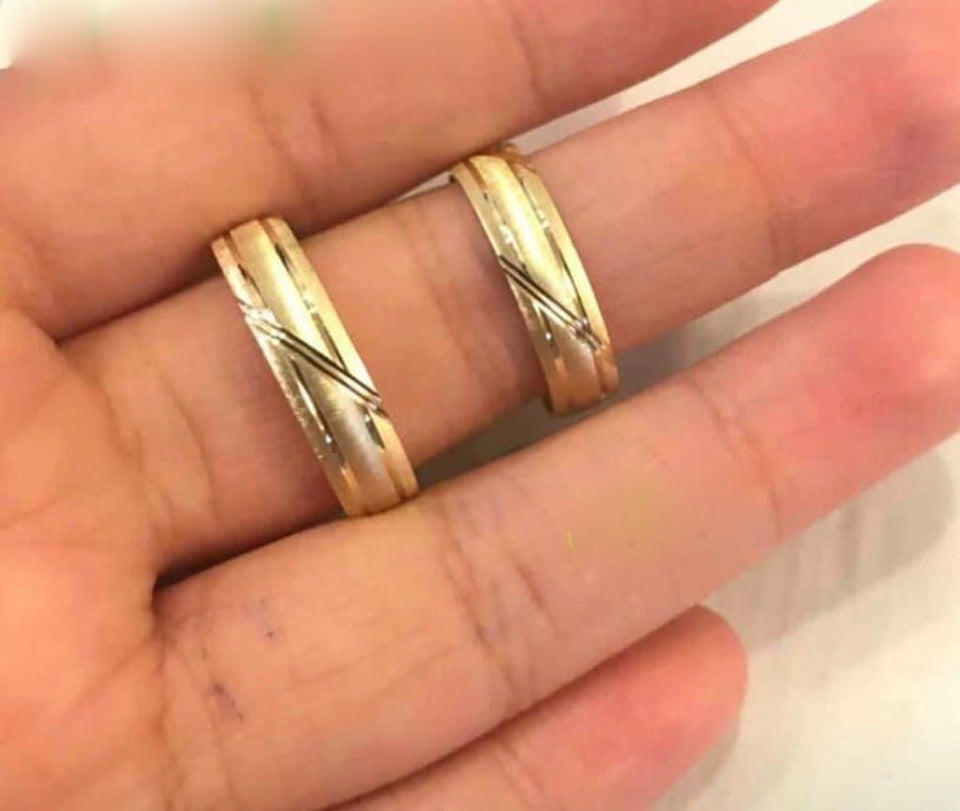 DALE 18K Gold Wedding Bands, Couple Rings - ZNZ Jewelry Philippines