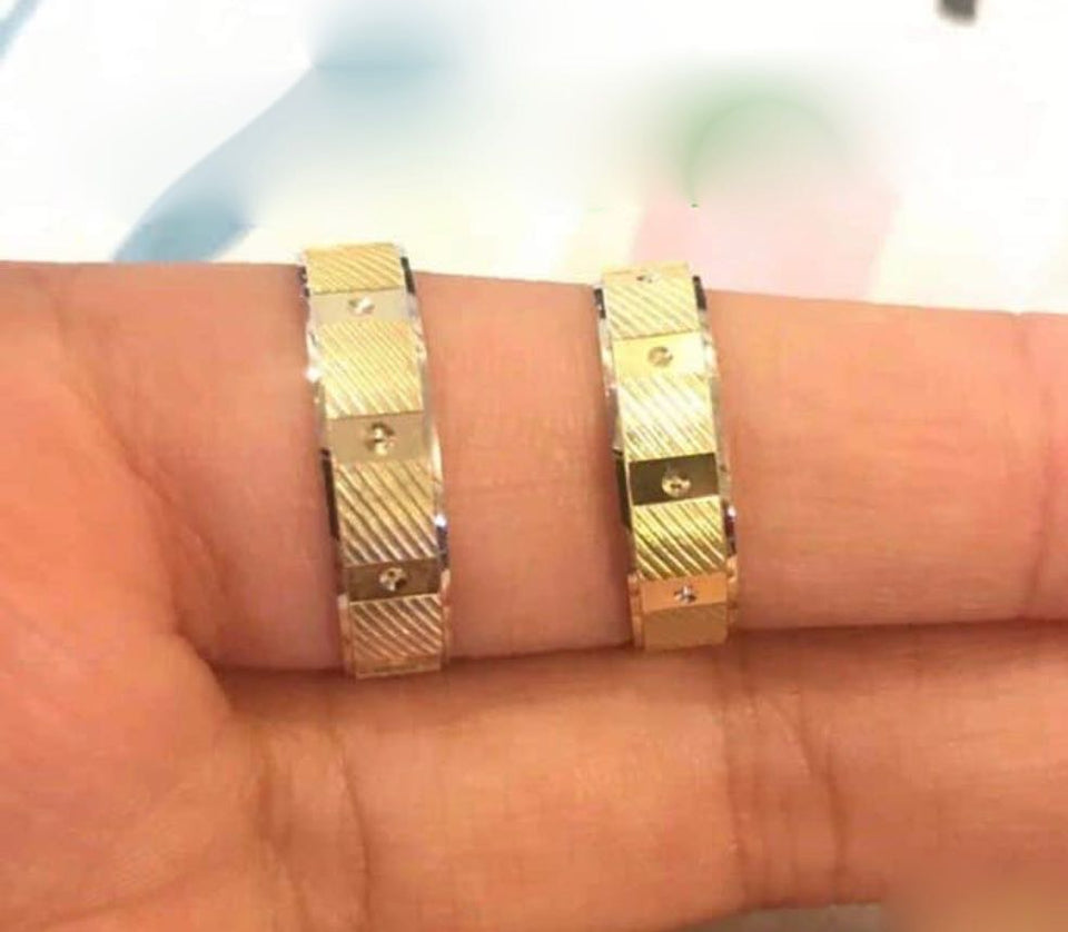 ERA 18K Gold Wedding Bands, Couple Rings - ZNZ Jewelry Philippines