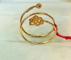 TWIST ROSE Ring in 18K Gold - ZNZ Jewelry Philippines