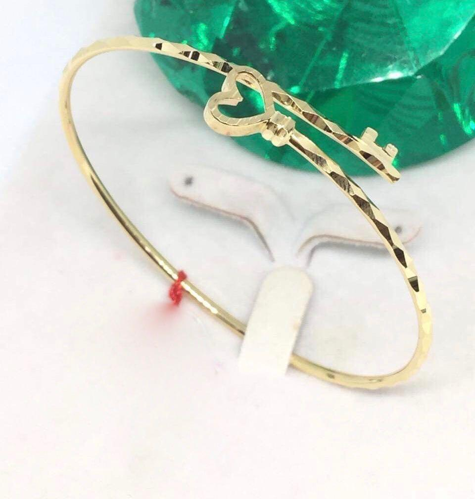 18K Gold Bangle NTN2 - ZNZ Jewelry Philippines