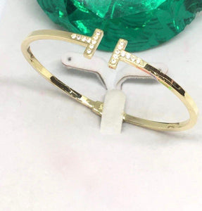 18K Gold Bangle NTN13 - ZNZ Jewelry Philippines