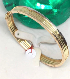 18K Gold Bangle NTN15 - ZNZ Jewelry Philippines