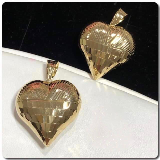 18K Gold Heart Pendant NTN26 - ZNZ Jewelry Philippines