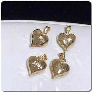 18K Gold Heart Pendant NTN31 - ZNZ Jewelry Philippines