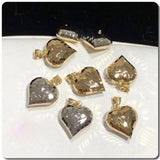 18K Gold Two-Tone Heart Pendant NTN32 - ZNZ Jewelry Philippines