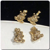 18K Gold Teddy Bear Pendant NTN33 - ZNZ Jewelry Philippines