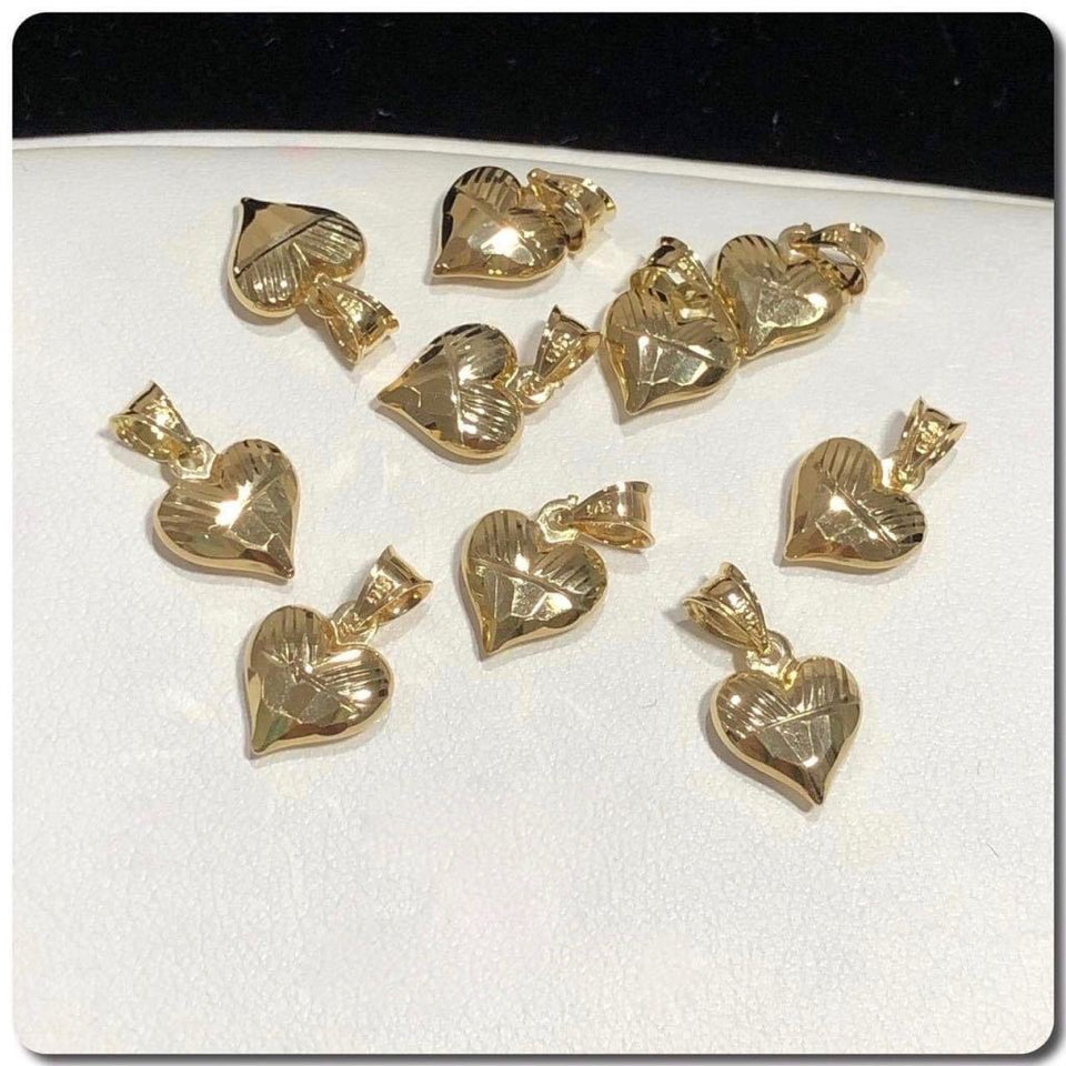 18K Gold Heart Pendant NTN39 - ZNZ Jewelry Philippines
