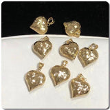 18K Gold Heart Pendant NTN43 - ZNZ Jewelry Philippines