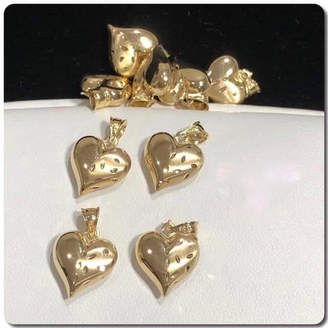 18K Gold Heart Pendant NTN45 - ZNZ Jewelry Philippines