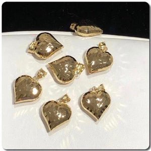 18K Gold Heart Pendant NTN46 - ZNZ Jewelry Philippines