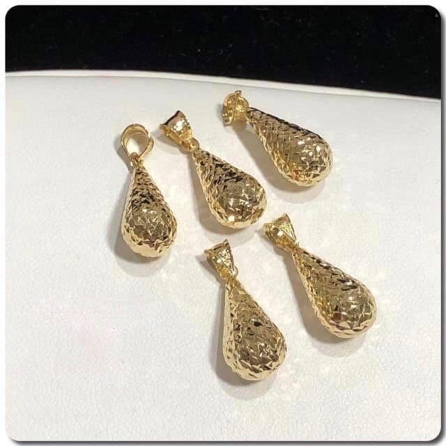 18K Gold Teardrop Pendant NTN48 - ZNZ Jewelry Philippines