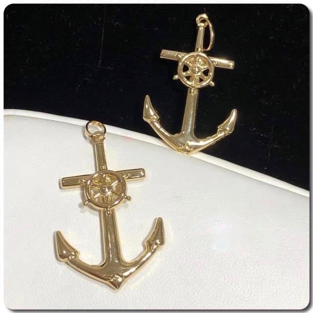 18K Gold Anchor Pendant NTN54 - ZNZ Jewelry Philippines