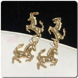 18K Gold Horse Pendant NTN56 - ZNZ Jewelry Philippines