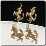 18K Gold Horse Pendant NTN57 - ZNZ Jewelry Philippines