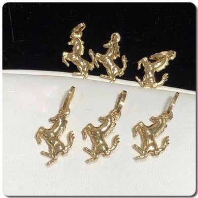 18K Gold Horse Pendant NTN58 - ZNZ Jewelry Philippines