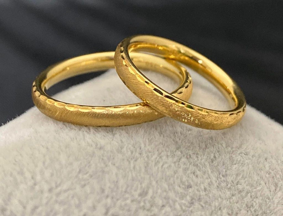 DEAN 18K Gold Thin Trendy Wedding Bands, Couple Rings - ZNZ Jewelry Philippines
