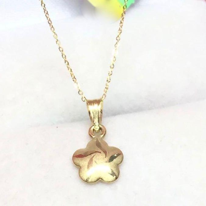 18K Gold  Star Pendant with Chain Necklace NTN121 - ZNZ Jewelry Philippines