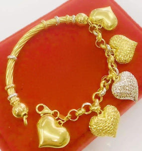 Heart Half Bangle 18K Gold - SOLD OUT-