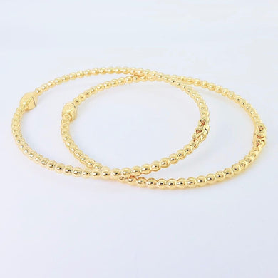 Bubble Bangle Bracelet 18K Gold
