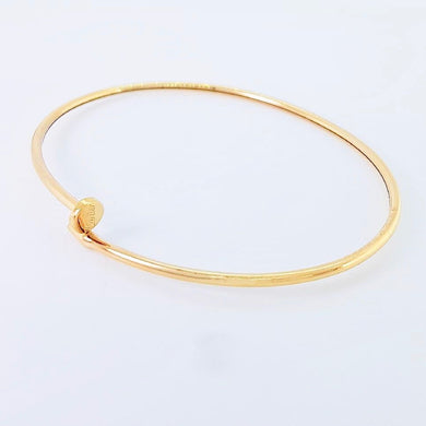 Slim Nail Bangle Bracelet 18K Gold