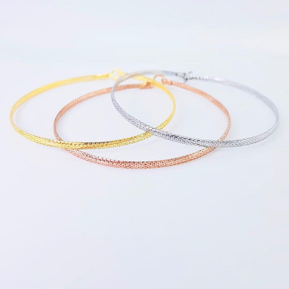 Slim Soft Bangle Bracelet 18K Gold