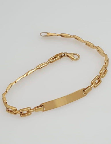 ID Bracelet 18K Gold - ZNZ Jewelry Philippines